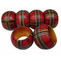 Hand-painted Sheffield Napkin Rings (Set of 6)