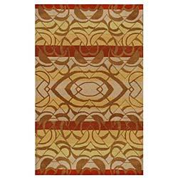 Hand-tufted Yoga Wool Rug (8' x 10'6)