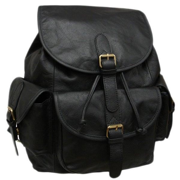 Amerileather Urban Buckle-Flap Backpack