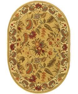 Safavieh Handmade Paradise Ivory Wool Rug (4'6 x 6'6 Oval)