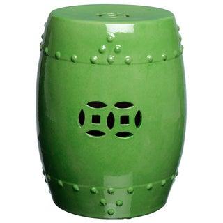 Handmade Spring Green Porcelain Garden Stool (China)