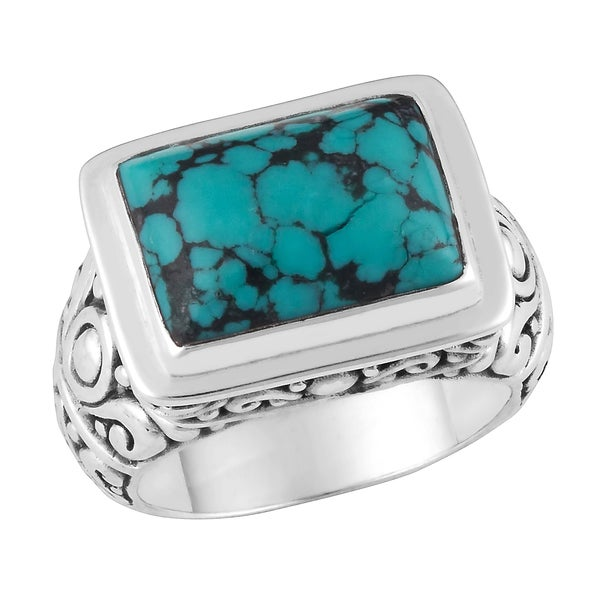 Sterling Silver Turquoise Ring (Indonesia)