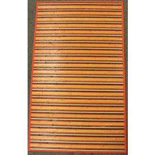 Rust Bamboo Runner Rug (2' x 7')