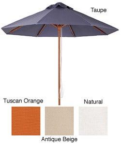 Lauren & Company Premium 9-foot Round Hard Wood Patio Umbrella