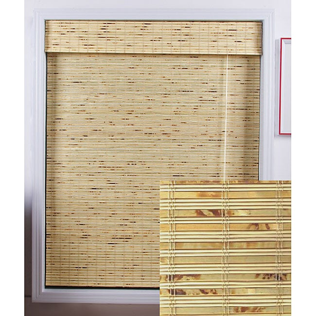 Petite Rustique Bamboo Roman Shade (70 in. x 74 in.)