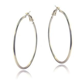 Mondevio Sterling Silver 45 mm Hoop Earrings
