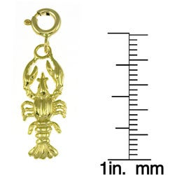 14k Yellow Gold Lobster Charm