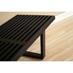Slat Bench in Black