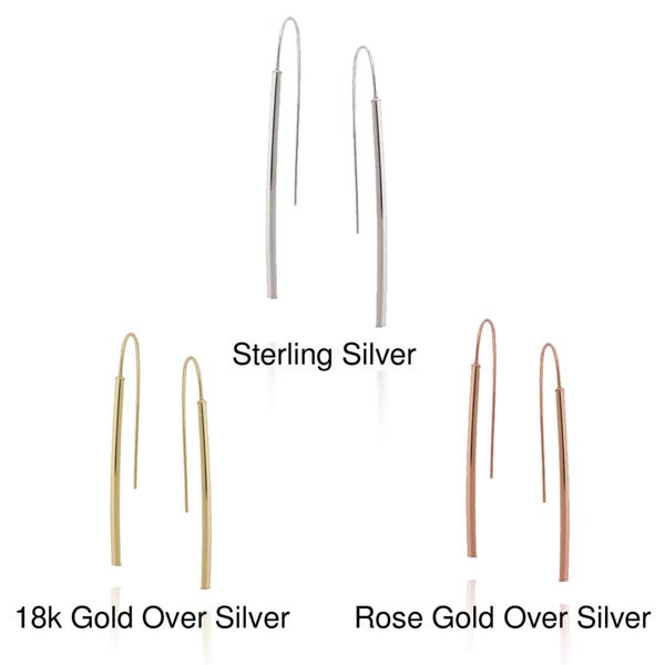 Mondevio Sterling Silver Stick Drop Earrings