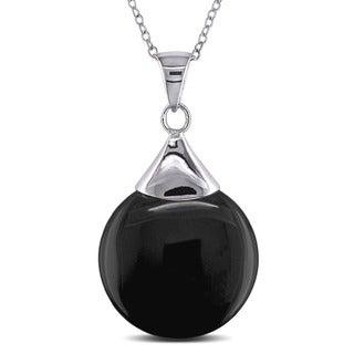 M by Miadora Sterling Silver Black Onyx Necklace