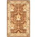 Safavieh Handmade Oushak Brown/ Ivory Wool Rug (5' x 8')