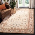 Handmade Treasured Sand Wool Rug (8&#39; x 10&#39;)