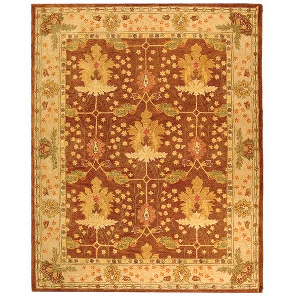 Safavieh Handmade Anatolia Oushak Brown/ Beige Wool Rug (8' x 10')
