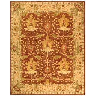Safavieh Handmade Oushak Brown/ Ivory Wool Rug (9' x 12')
