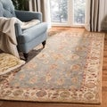 Handmade Heirloom Blue/ Ivory Wool Rug (6&#39; x 9&#39;)