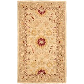 Safavieh Handmade Timeless Ivory/ Sand Wool Rug (3' x 5')