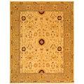 Safavieh Handmade Timeless Ivory/ Sand Wool Rug (9' x 12')