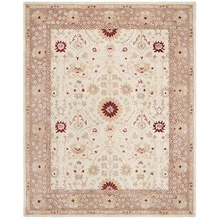 Handmade Timeless Ivory/ Sand Wool Rug (9&#39; x 12&#39;)