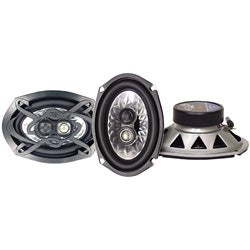 Lanzar One Pair 3-way Triaxial Car Speaker System