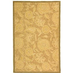 Safavieh Hand-hooked Abrashed Beige/ Light Brown Wool Rug (8'9 x 11'9)