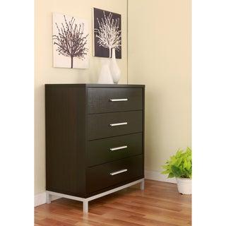 Furniture of America Modern 4-drawer Wood/ Metal Chest