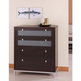 Furniture of America Modern 4-drawer Wood/ Metal Chest