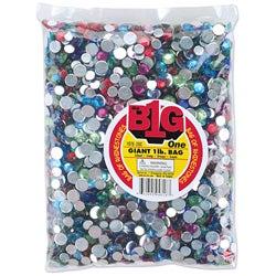 1-pound Bag of Multicolored Rhinestones