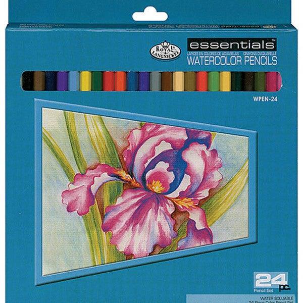 Royal Langnickel Essentials Premium Watercolor Pencils (Set of 24)