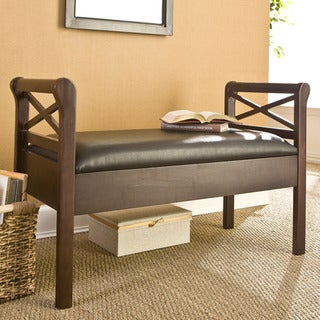 Sussex Faux Leather Storage Bench