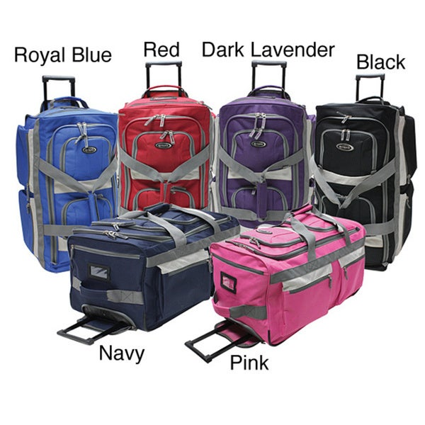 Olympia SRD 22-inch 8-pocket Carry On Rolling Upright Duffel Bag