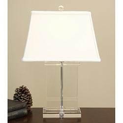 Crystal Rectangle Column Table Lamp