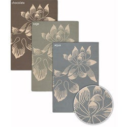 Handmade Transitional Mandara Floral Rug (8' x 11')
