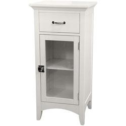 Classique White Single Door/ Single Drawer Floor Cabinet