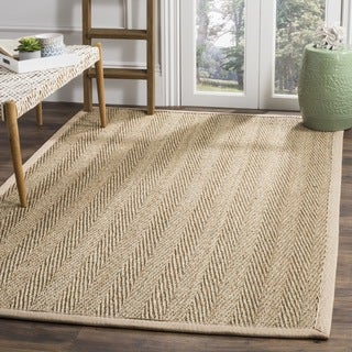 Safavieh Warm Hand-woven Sisal Natural/ Beige Seagrass Rug (9' x 12')