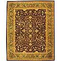 Safavieh Handmade Antiquities Mahal Brown/ Blue Wool Rug (7'6 x 9'6)