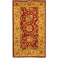 Safavieh Handmade Antiquities Mashad Rust/ Ivory Wool Runner (2'3 x 4')