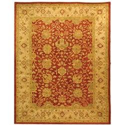 Safavieh Handmade Antiquities Mashad Rust/ Ivory Wool Rug (9'6 x 13'6)