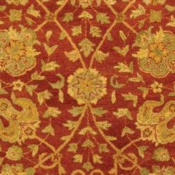 Safavieh Handmade Antiquities Mashad Rust/ Ivory Wool Rug (6' x 9')