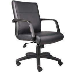 Boss Executive Mid-back Bonded Leather Office Chair