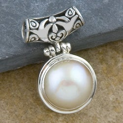 Sterling Silver Blister Pearl Pendant (Indonesia)