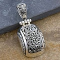 Sterling Silver 'Cawi Motif Carving' Pendant (Indonesia)
