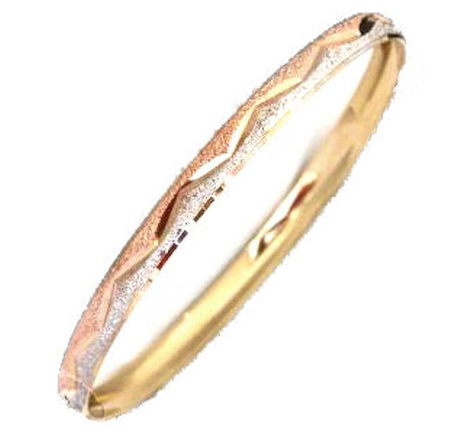 14k Goldfill Tri-color Bangle Bracelet (Mexico)