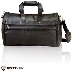 G Pacific Koskin Leather 2-in-1 Carry On Garment Duffel Bag