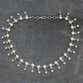 Sterling Silver Pearl 'Gratitude' Choker (India)