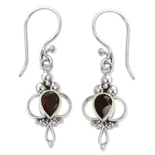 'Crimson Tears' Garnet Earrings (Indonesia)