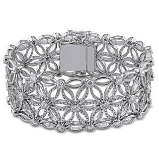 Miadora 18k White Gold 7 1/5ct Vintage Diamond Bracelet (G-H-I, SI )