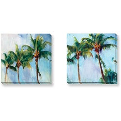 Krowitz Palms Series Canvas Gallery Wrapped Set