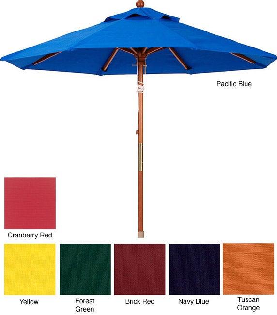Lauren & Company Premium 9-foot Round Wood Patio Umbrella