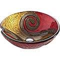 Kraus Copper Snake 17 mm thick Glass Vessel Sink