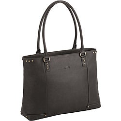 SOLO Women's Espresso 15.4-inch Leather Laptop Tote